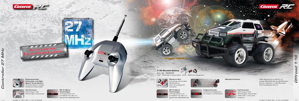 Controller Wheely Funktion 1:18 Shuttle Galaxy Art. Nr.