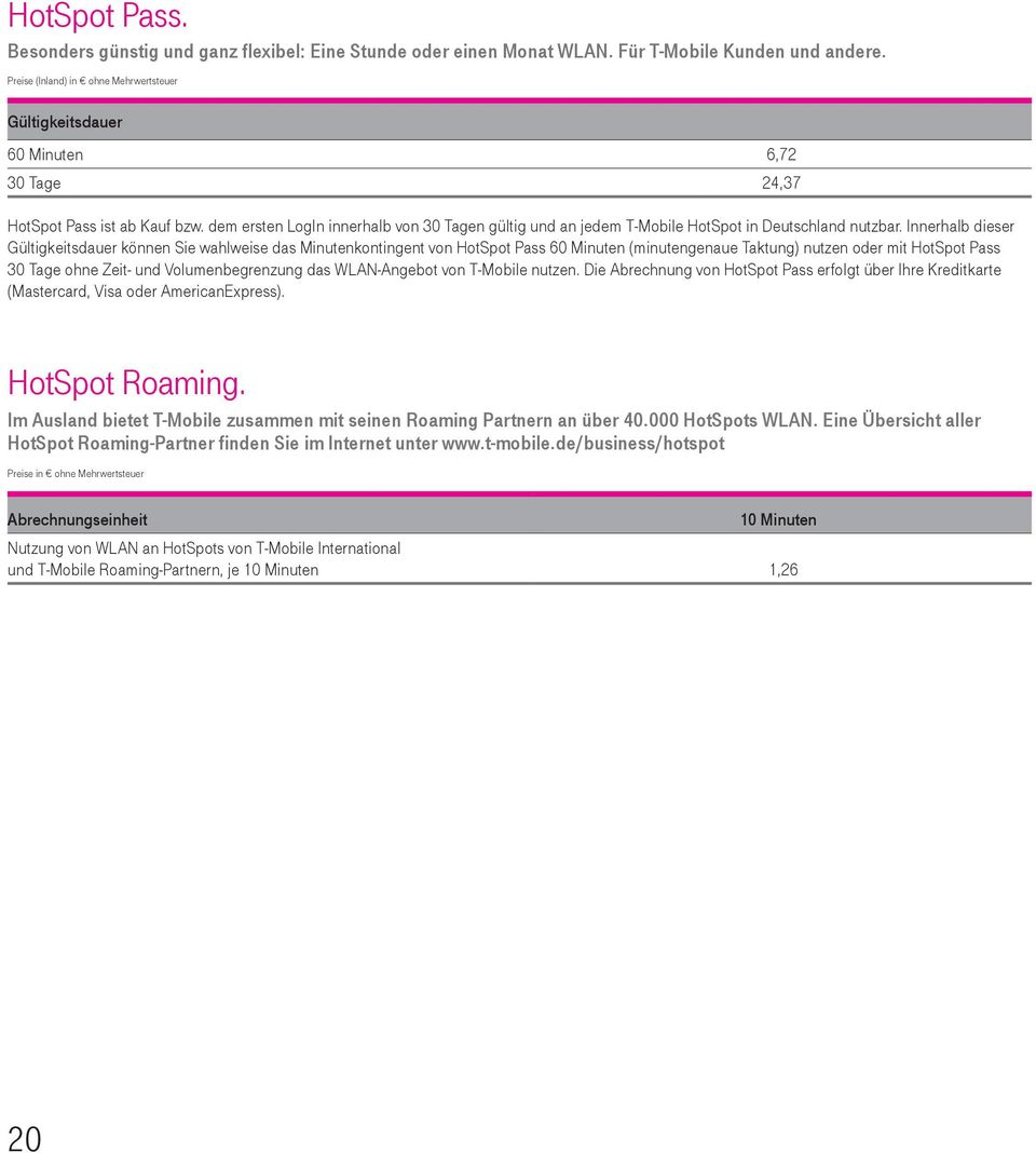 T Mobile Business Preisliste Pdf