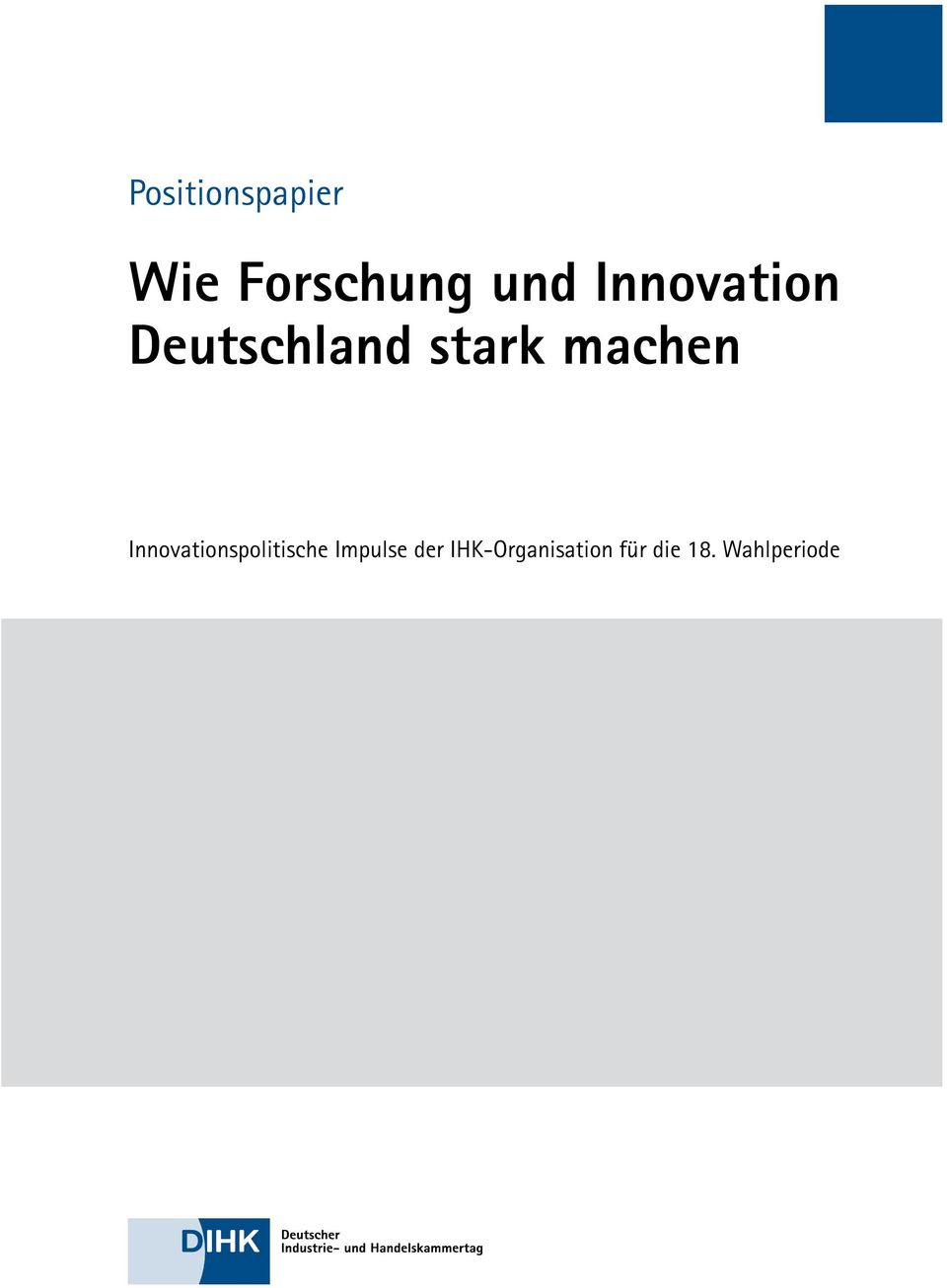 Innovationspolitische Impulse der