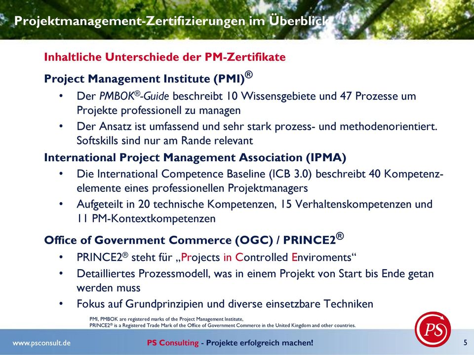 Softskills sind nur am Rande relevant International Project Management Association (IPMA) Die International Competence Baseline (ICB 3.