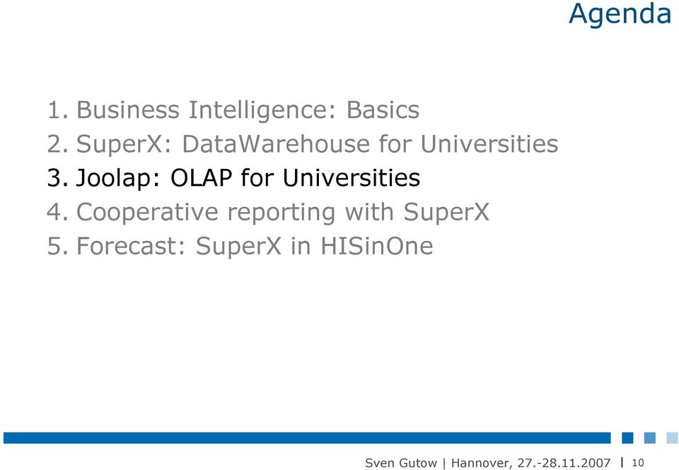 Joolap: OLAP for Universities 4.