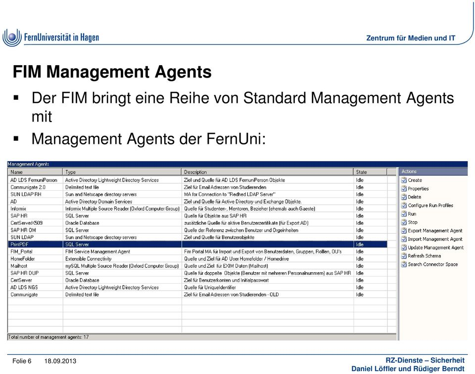 Management Agents mit