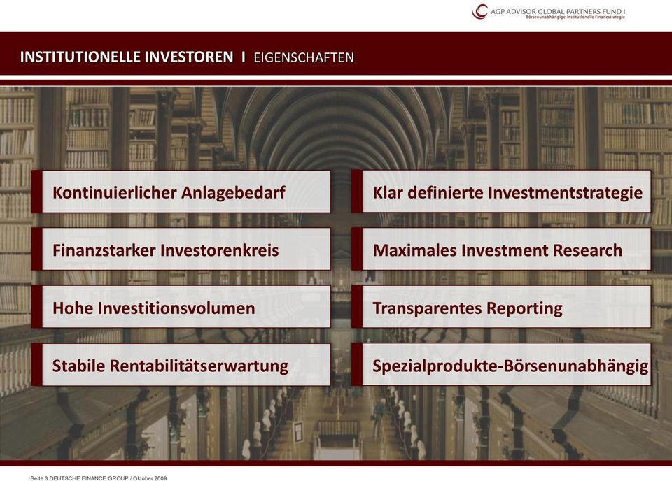 Research Hohe Investitionsvolumen Transparentes Reporting Stabile