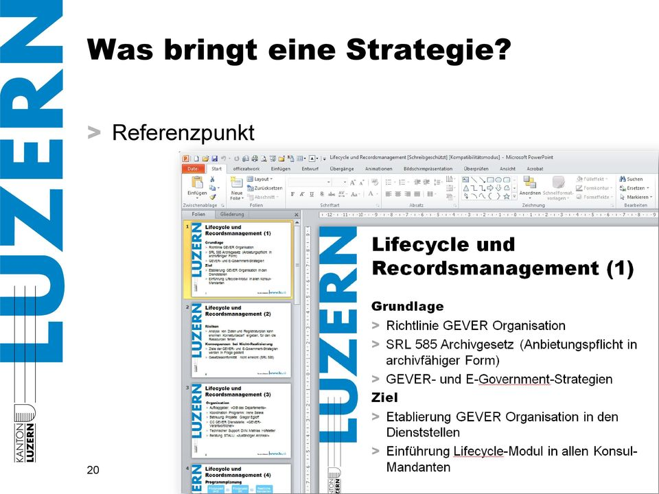 Strategie?