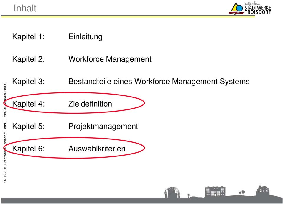 Kapitel 6: Bestandteile eines Workforce Management