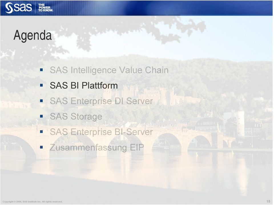 SAS Enterprise BI-Server Zusammenfassung EIP