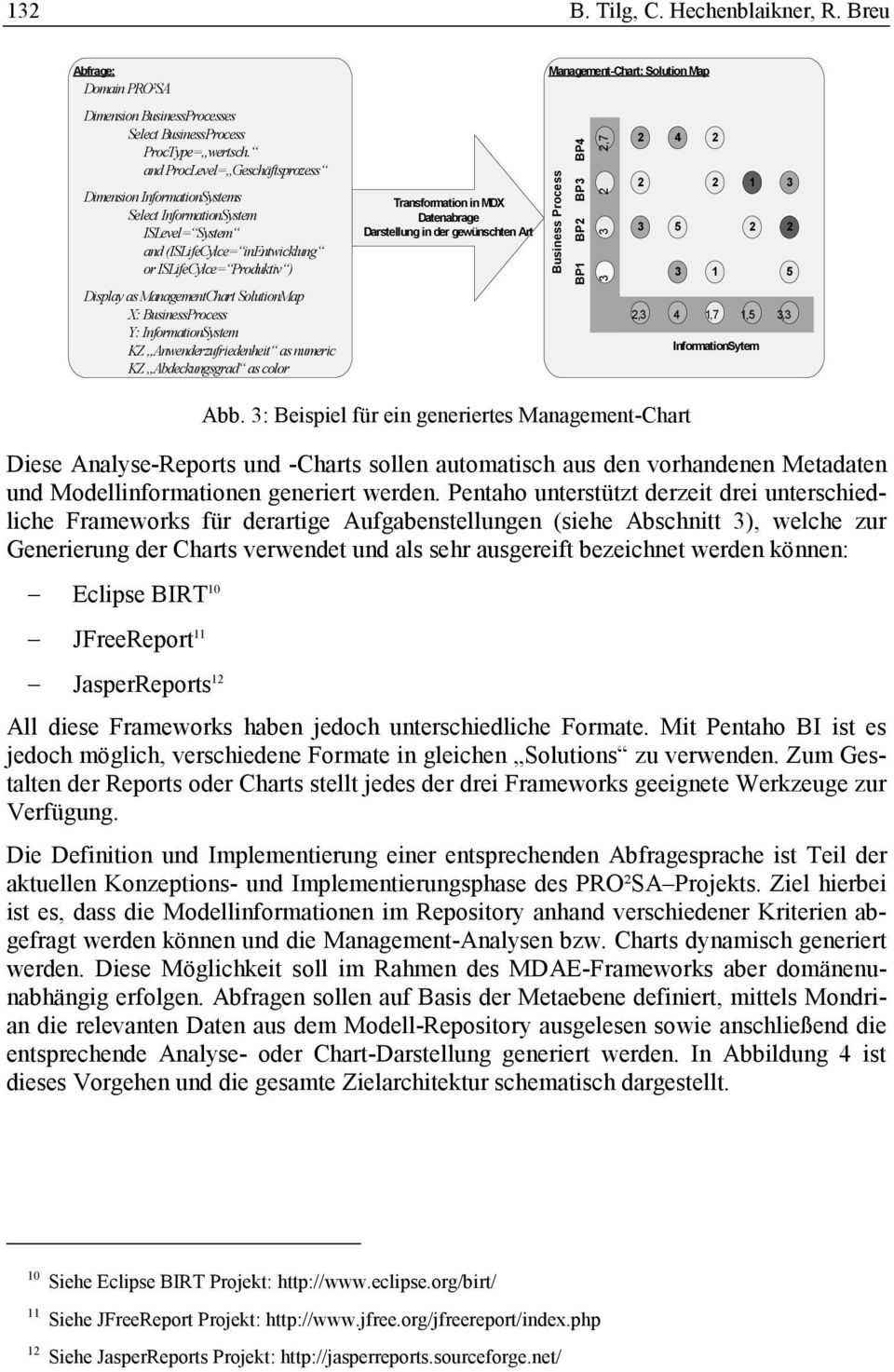 X: BusinessProcess Y: InformationSystem KZ Anwenderzufriedenheit as numeric KZ Abdeckungsgrad as color Transformation in MDX Datenabrage Darstellung in der gewünschten Art Management-Chart: Solution