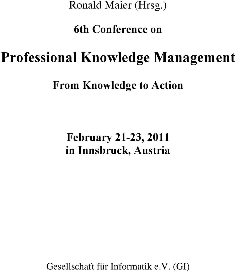 Management From Knowledge to Action February