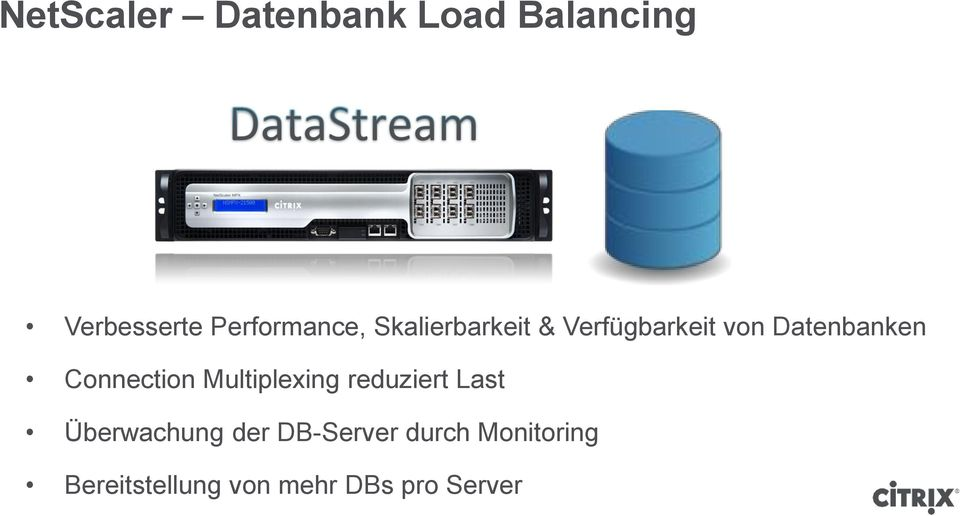 Datenbanken Connection Multiplexing reduziert Last