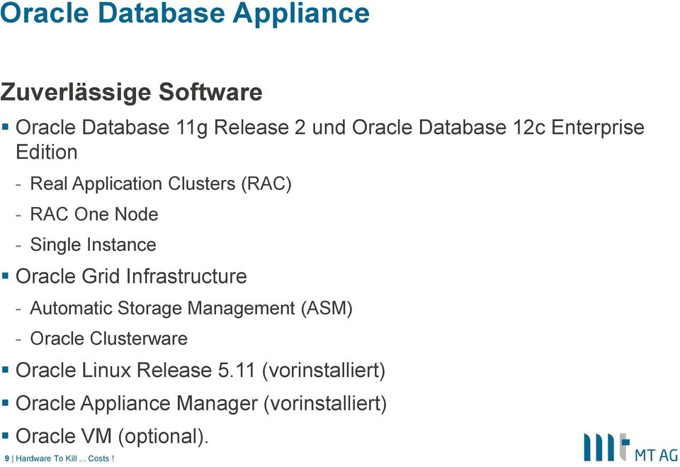 Automatic Storage Management (ASM) - Oracle Clusterware Oracle Linux Release 5.