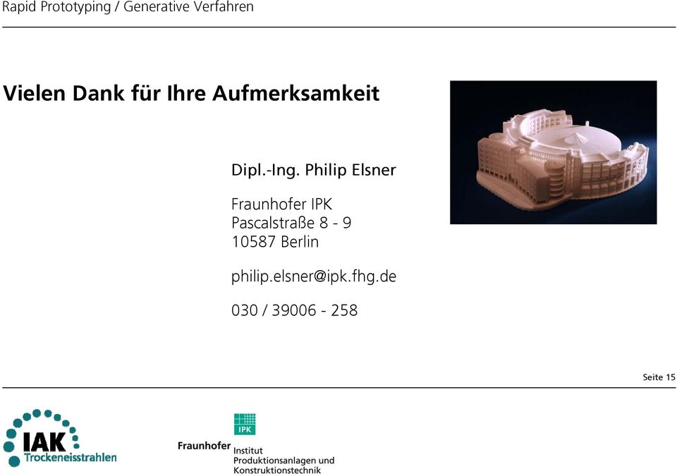Philip Elsner Fraunhofer IPK