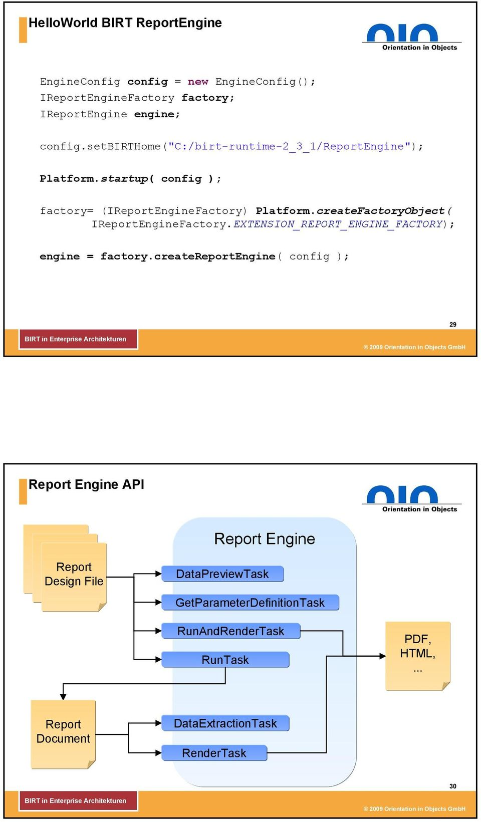 createFactoryObject( IReportEngineFactory.EXTENSION_REPORT_ENGINE_FACTORY); engine = factory.