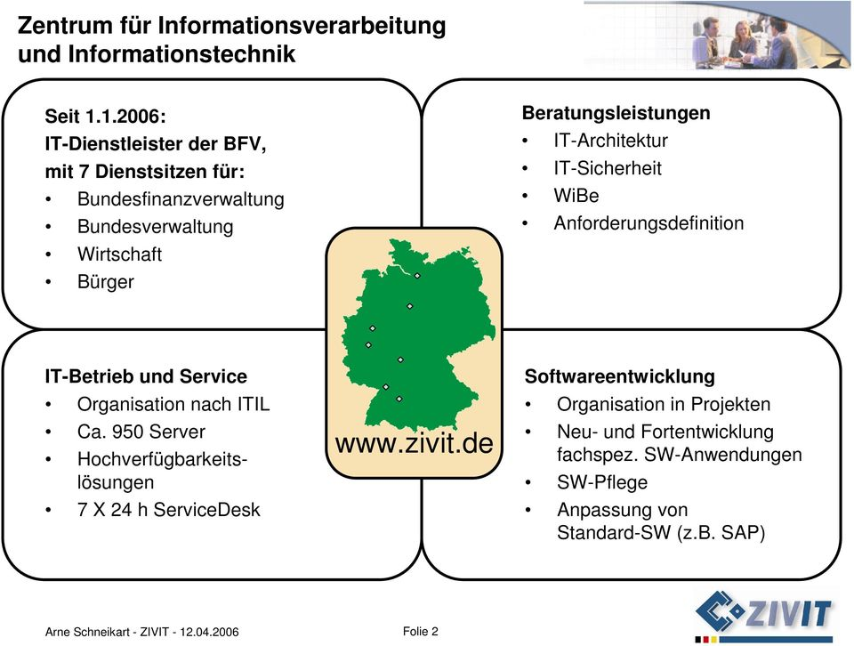 IT-Architektur IT-Sicherheit WiBe Anforderungsdefinition IT-Betrieb und Service Organisation nach ITIL Ca.