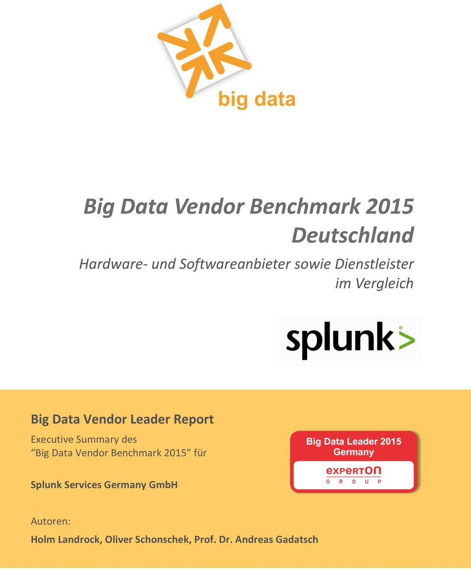 Report Executive Summary des Big Data Vendor Benchmark 2015 für Splunk