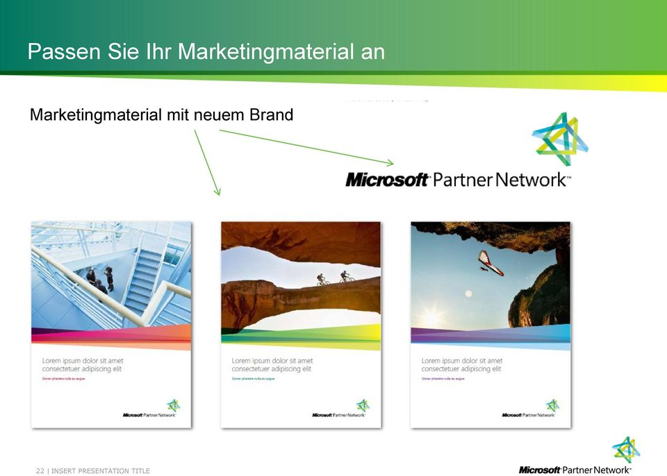 Marketingmaterial mit