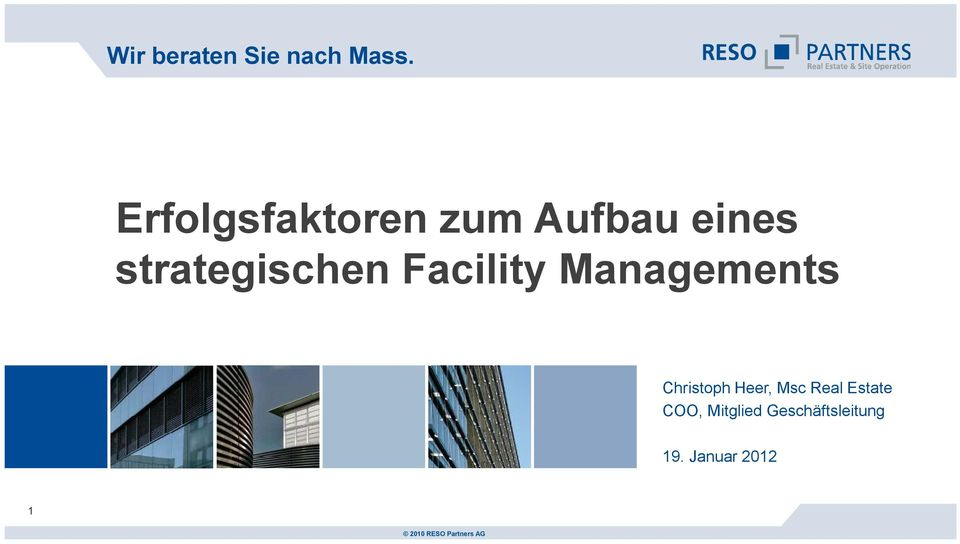 strategischen Facility Managements