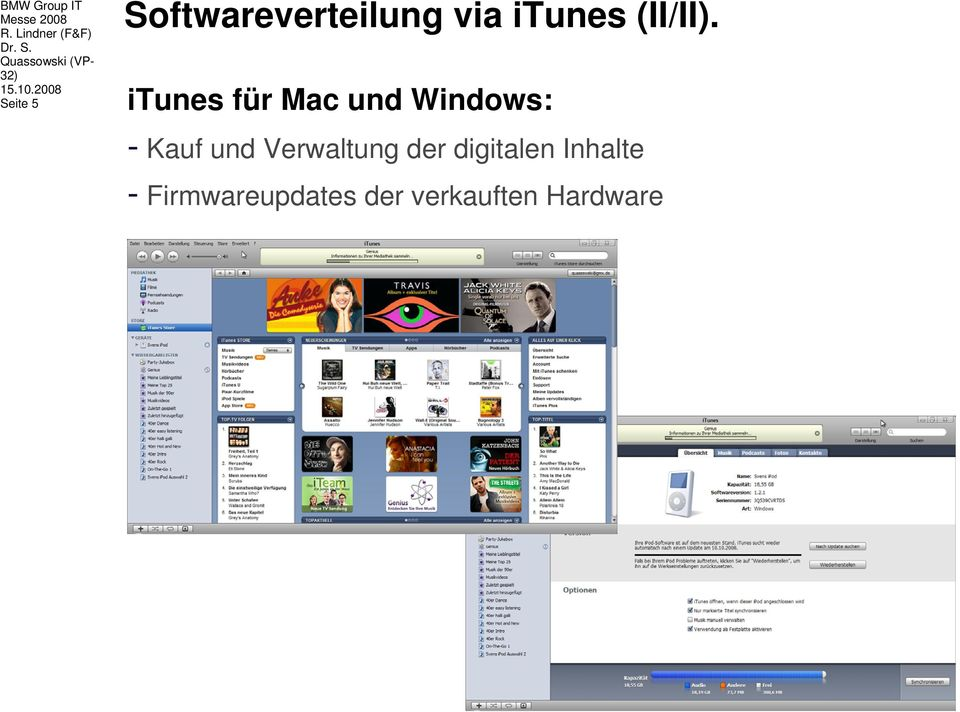 2008 Seite 5 Softwareverteilung via itunes (II/II).