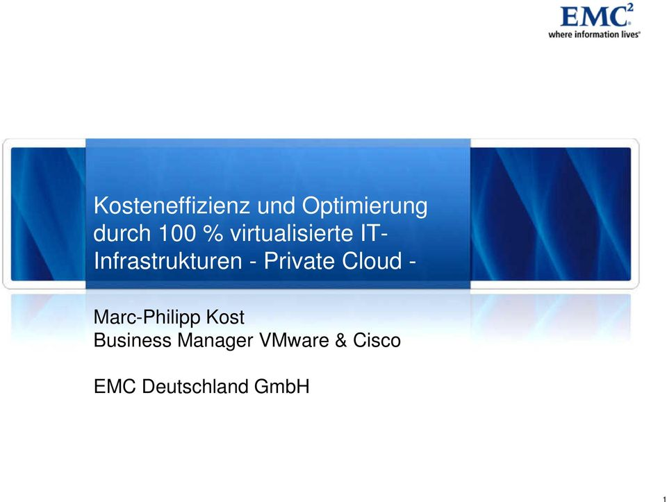 Private Cloud - Marc-Philipp Kost Business