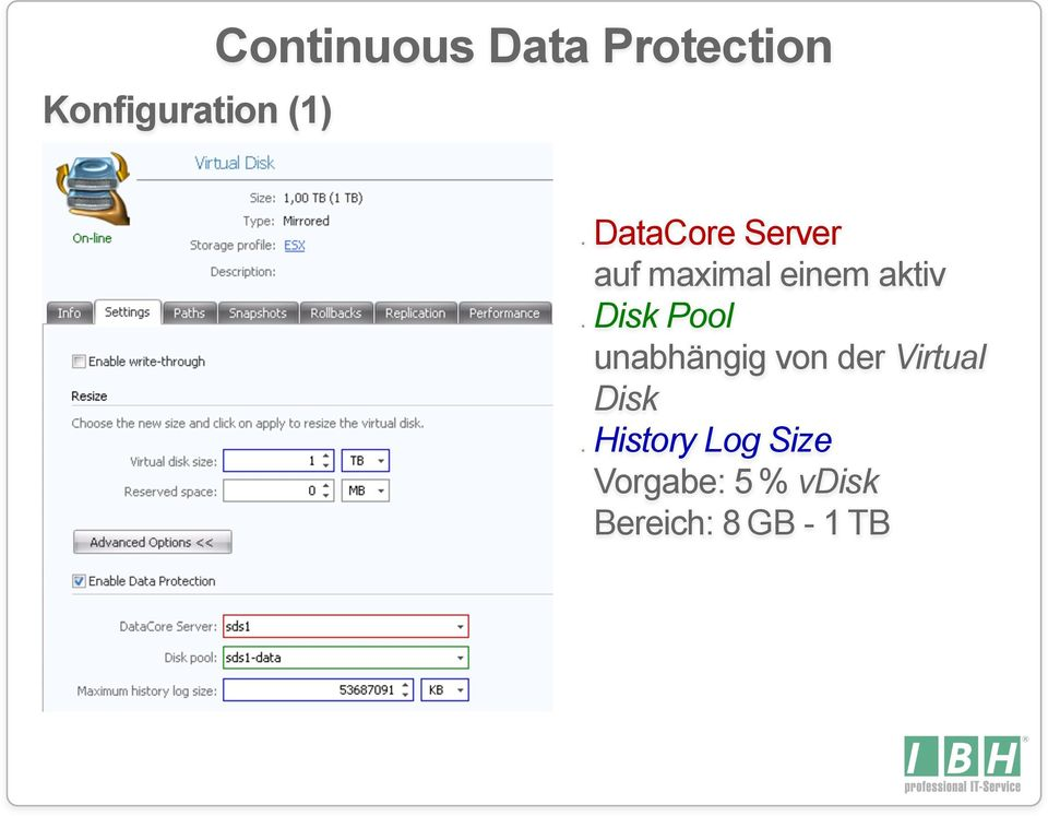 continuous data protection Continuous data protection is a new style of data protection ('backup') traditional backup occures once-per-day (or far less frequently for mobile and home users.