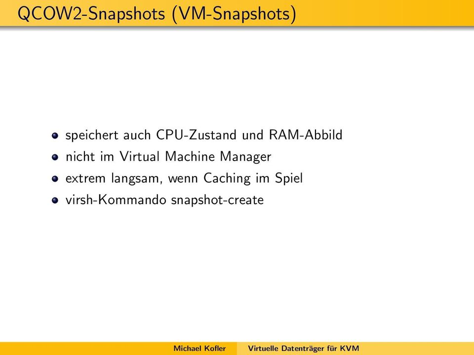 Virtual Machine Manager extrem langsam,