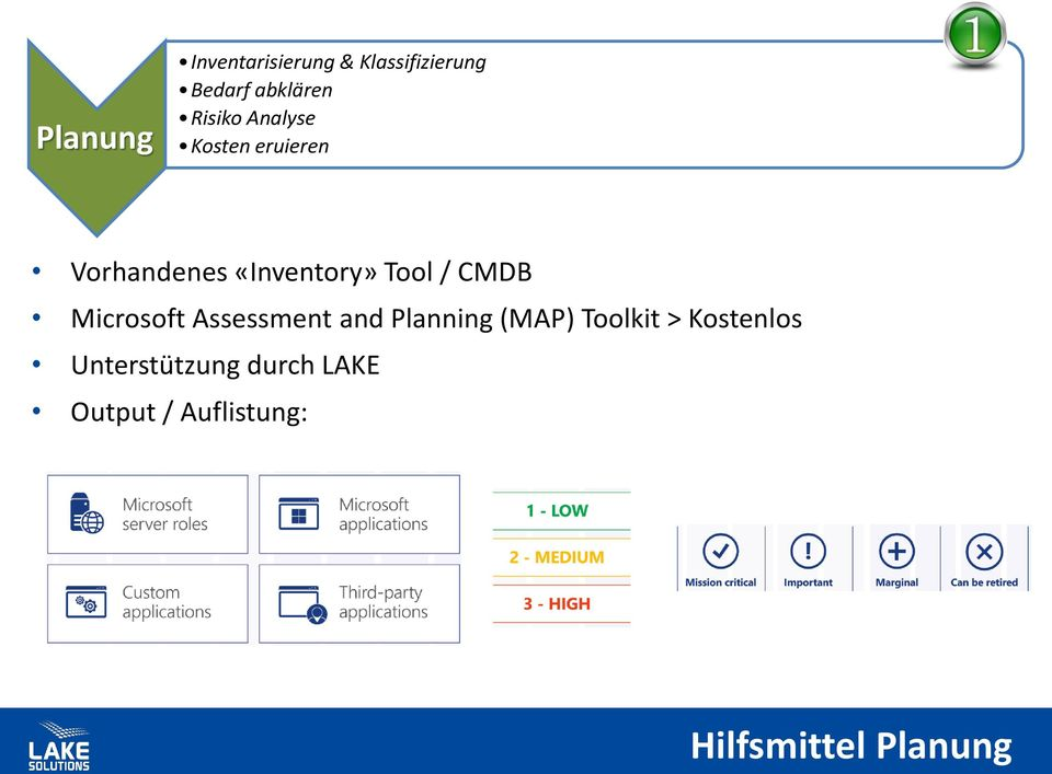 CMDB Microsoft Assessment and Planning (MAP) Toolkit >