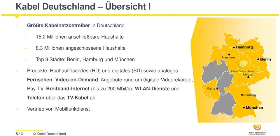 digitales (SD) sowie analoges Fernsehen, Video-on-Demand, Angebote rund um digitale Videorekorder, Pay-TV,