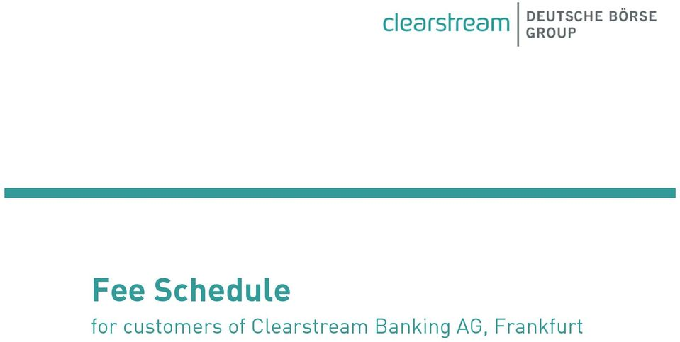 of Clearstream