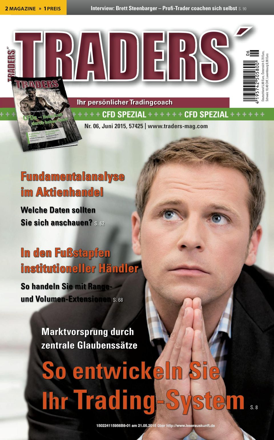 6,70 Euro, Schweiz 10,40 CHF, Luxembourg 6,90 Euro Nr. 06, Juni 2015, 57425 www.traders-mag.