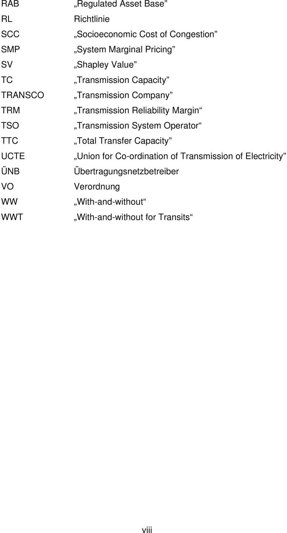 Transmission Reliability Margin Transmission System Operator Total Transfer Capacity Union for Co-ordination