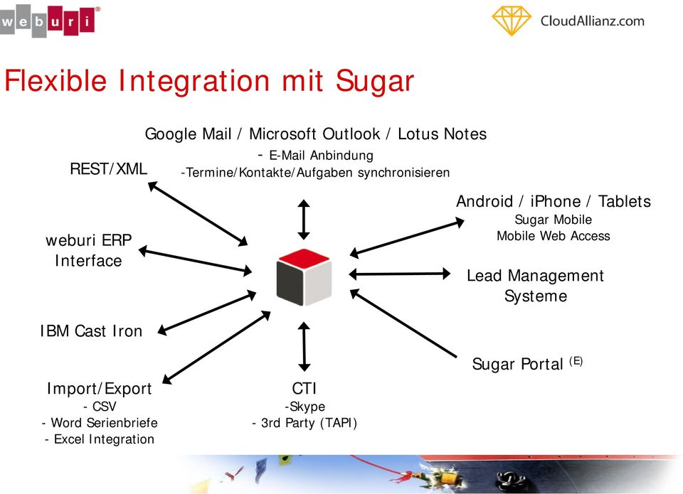 iphone / Tablets Sugar Mobile Mobile Web Access Lead Management Systeme IBM Cast Iron