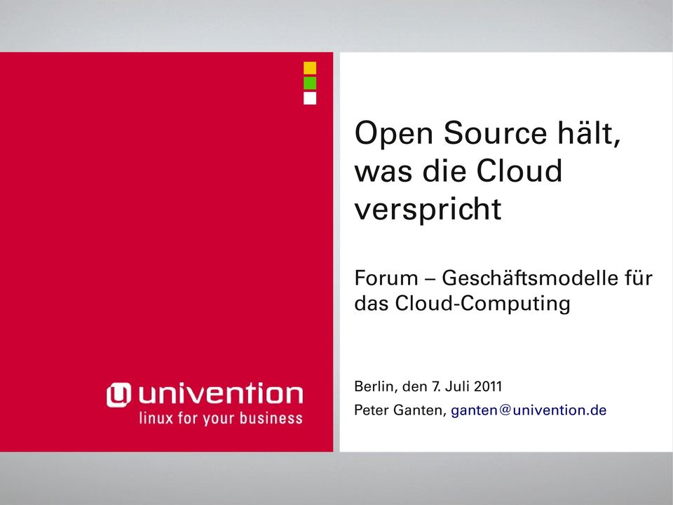 das Cloud Computing Berlin, den 7.