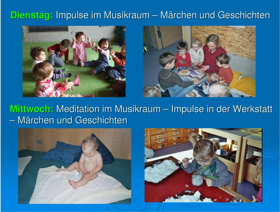 Meditation im Musikraum Impulse in