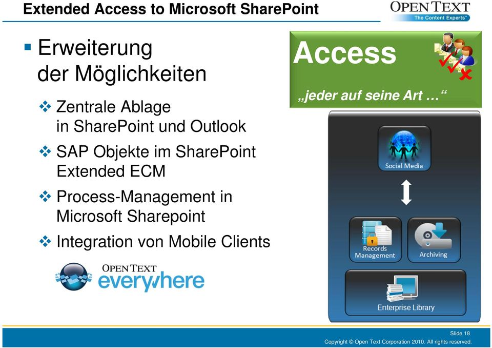 Objekte im SharePoint Extended ECM Process-Management in