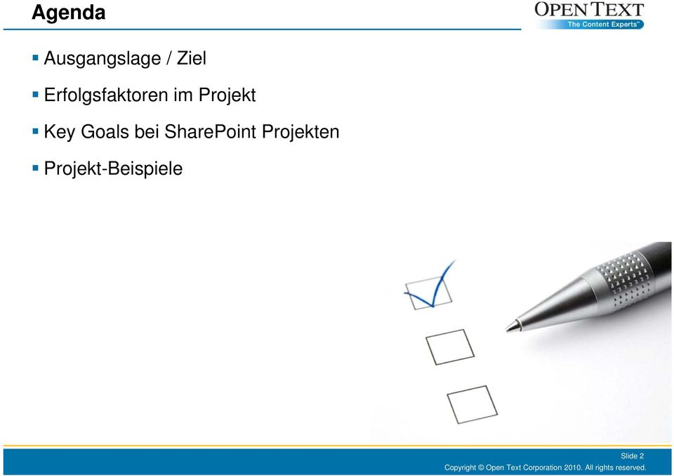 Key Goals bei SharePoint