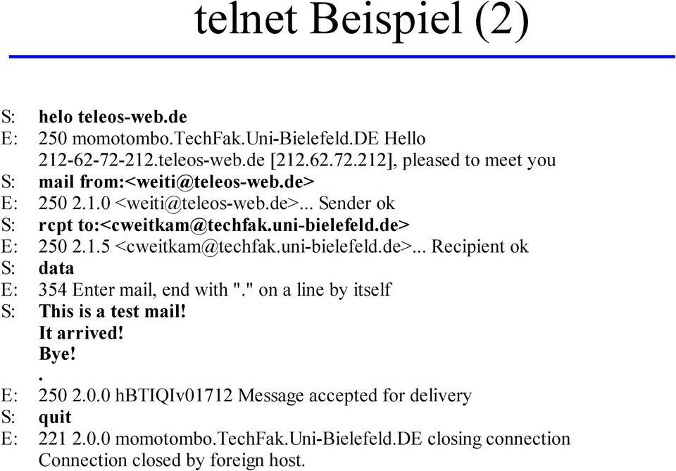 "uni-bielefeld.de> E: 250 2.1.5 <cweitkam@techfak.uni-bielefeld.de>... Recipient ok S: data E: 354 Enter mail, end with ""."