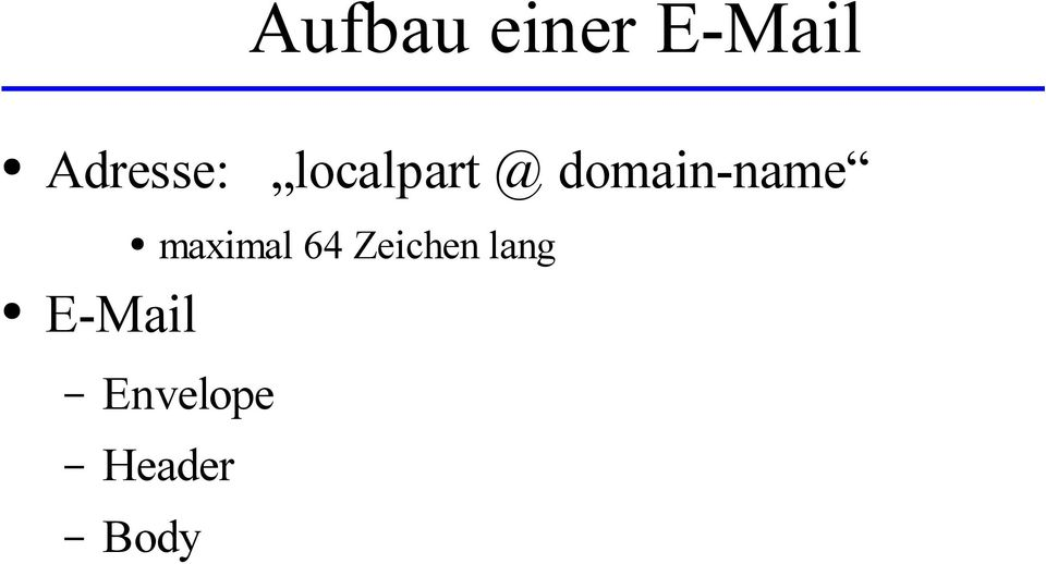 domain-name E-Mail