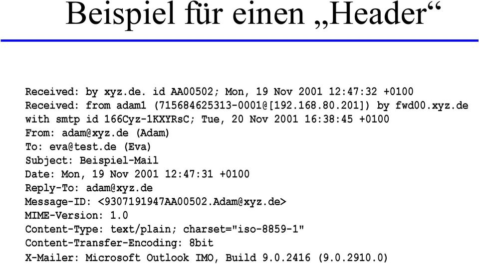de (Eva) Subject: Beispiel-Mail Date: Mon, 19 Nov 2001 12:47:31 +0100 Reply-To: adam@xyz.de Message-ID: <9307191947AA00502.Adam@xyz.
