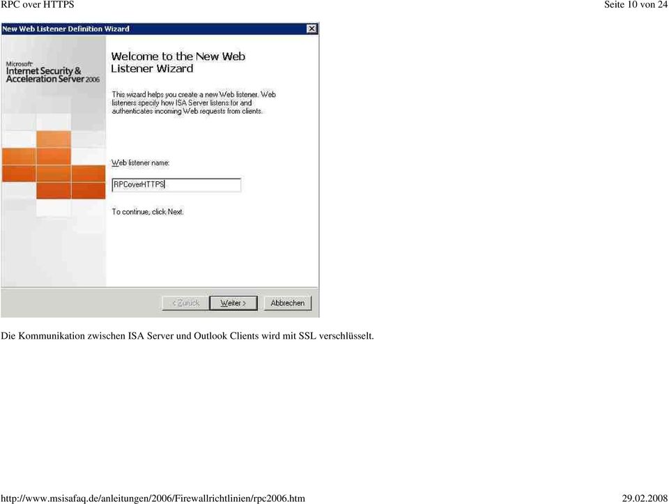 ISA Server und Outlook