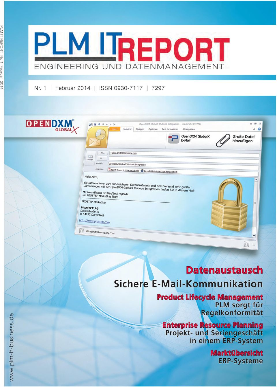 de Datenaustausch Sichere E-Mail-Kommunikation Product Lifecycle Management