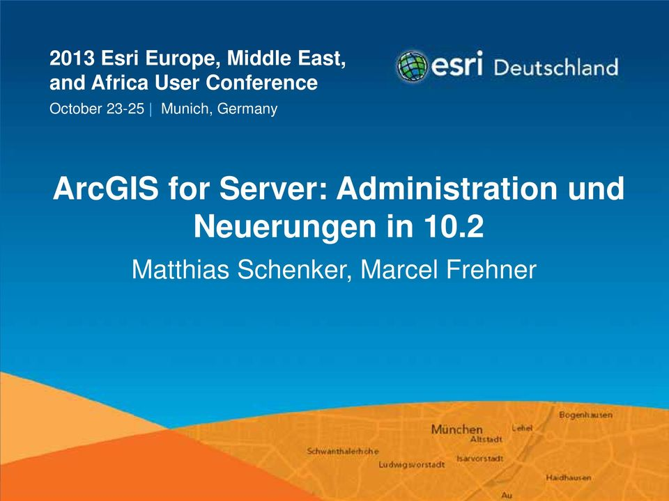ArcGIS for Server: Administration und