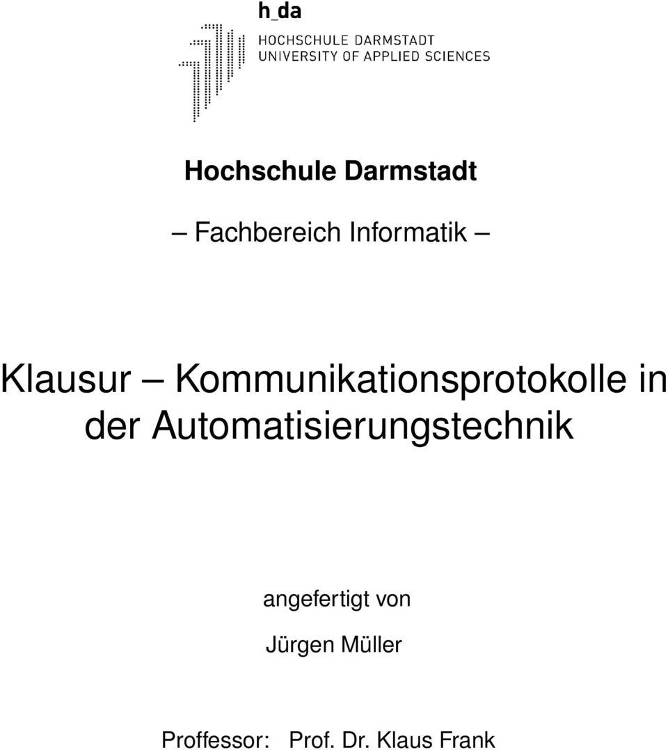 Kommunikationsprotokolle in der