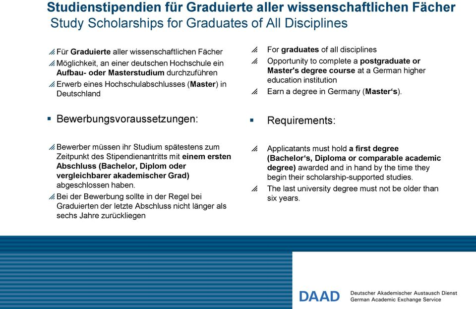 degree course at a German higher education institution Earn a degree in Germany (Master s).