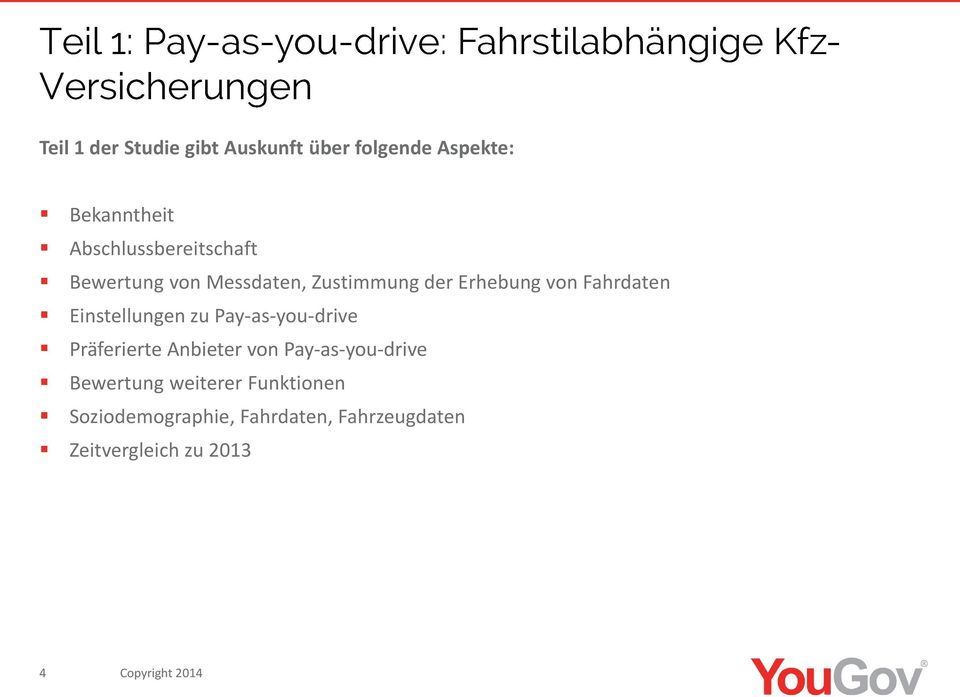 Einstellungen zu Pay-as-you-drive Präferierte Anbieter von Pay-as-you-drive