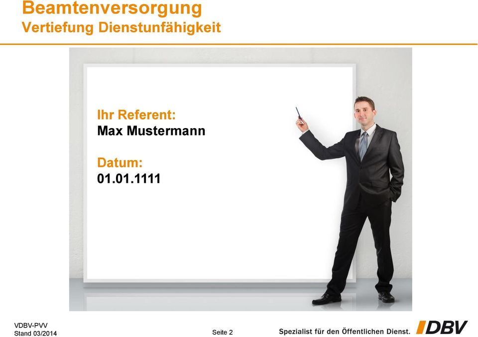 Referent: Max Mustermann
