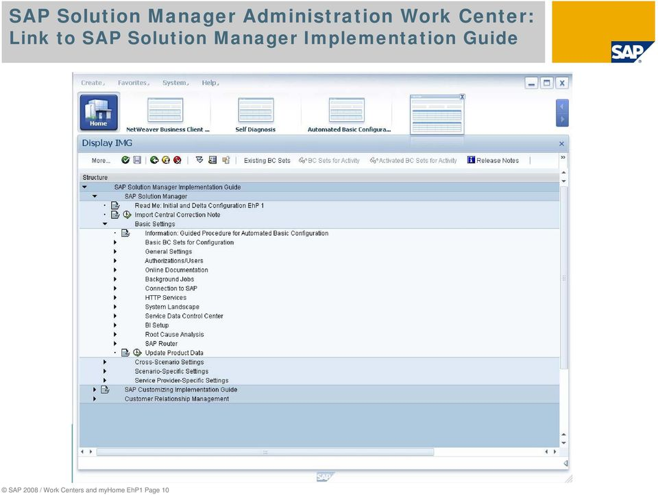 Manager Implementation Guide SAP