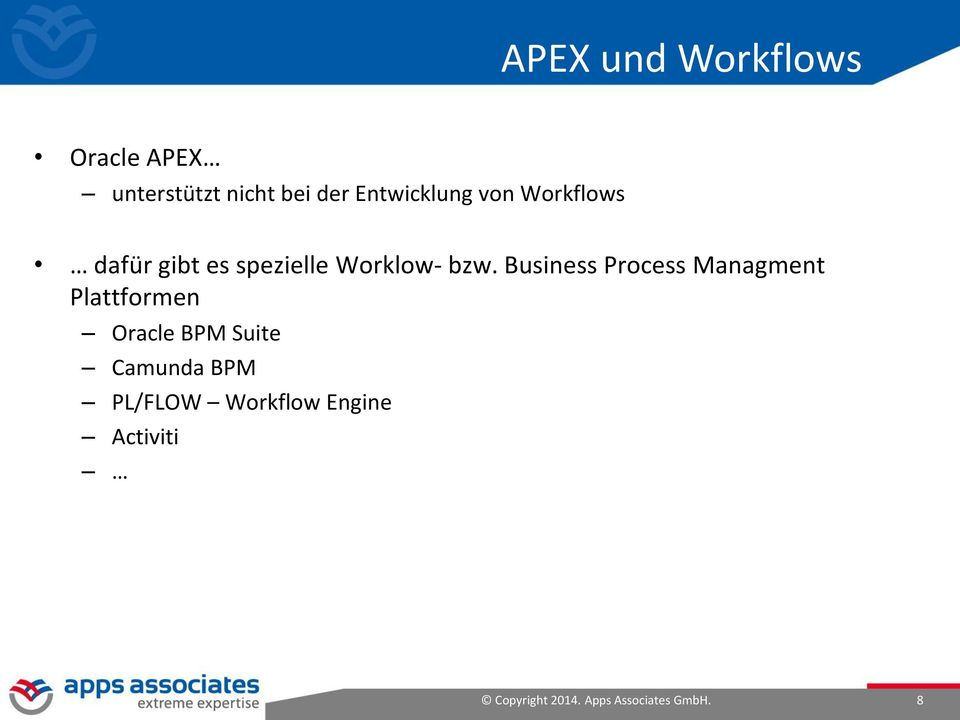 Business Process Managment Plattformen Oracle BPM Suite Camunda