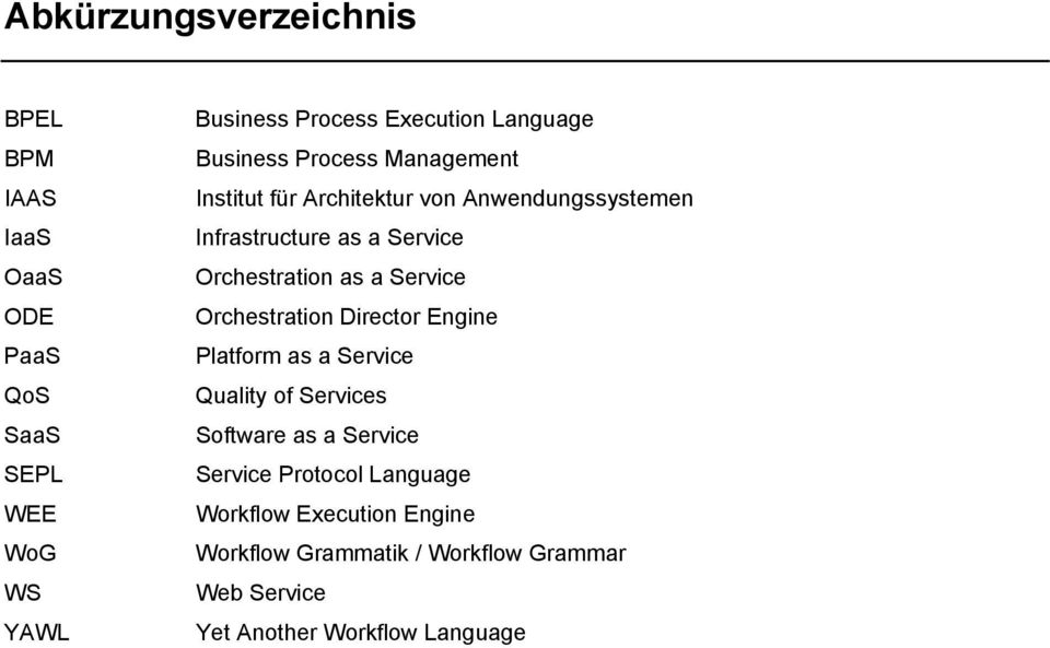 Orchestration as a Service Orchestration Director Engine Platform as a Service Quality of Services Software as a