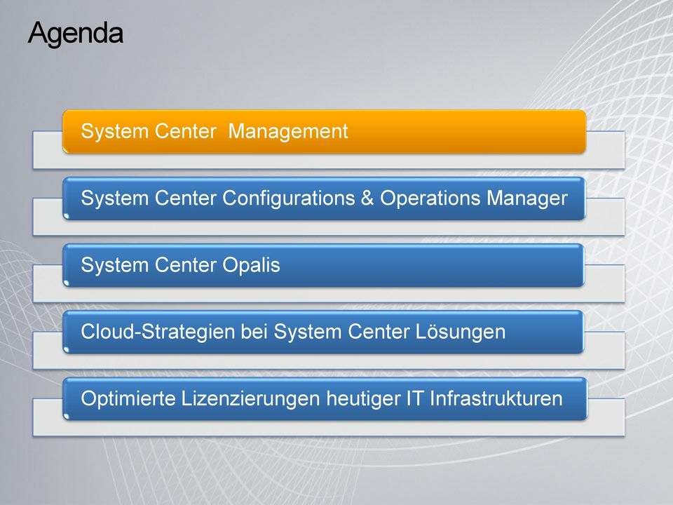 Opalis Cloud-Strategien bei System Center