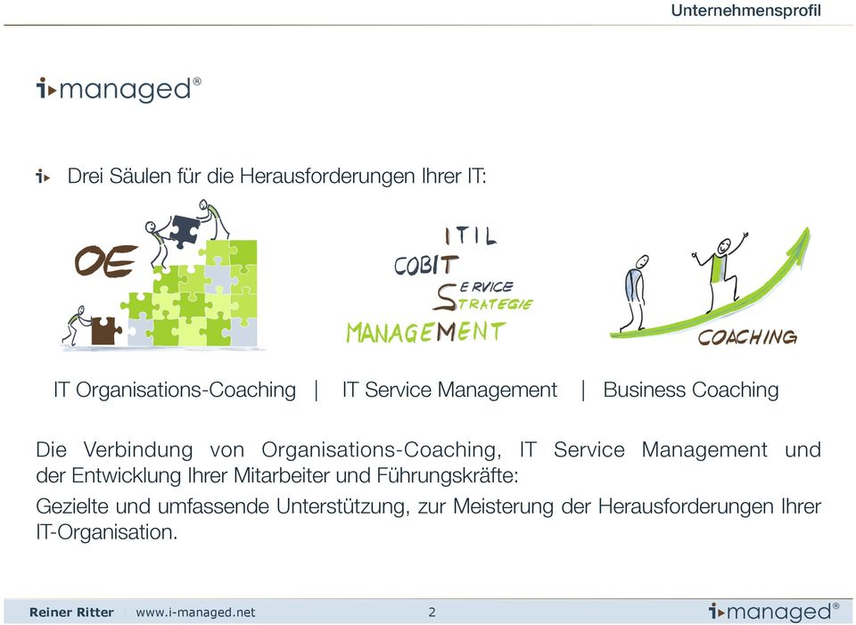 Business Coaching Die Verbindung von Organisations-Coaching, IT Service Management und der