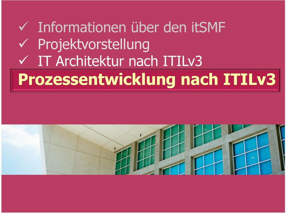 IT Architektur nach ITILv3